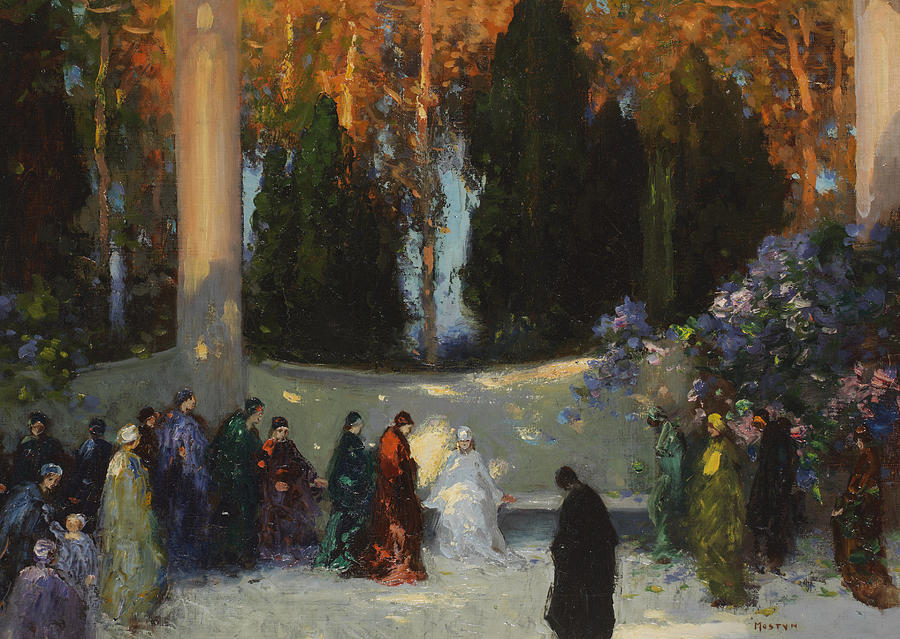 Woodland Painting - The Audience by TE Mostyn