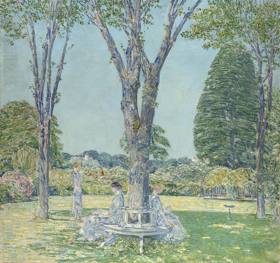 The Audition Painting - The Audition by Childe Hassam
