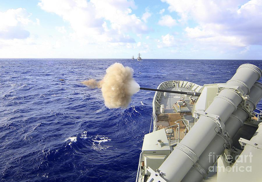 Rimpac Photograph - The Australian Navy Frigate Hmas by Stocktrek Images