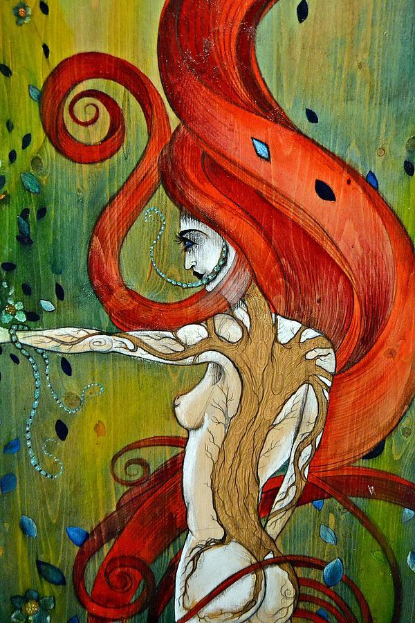 Woman Painting - The Awakening by Sandro Ramani
