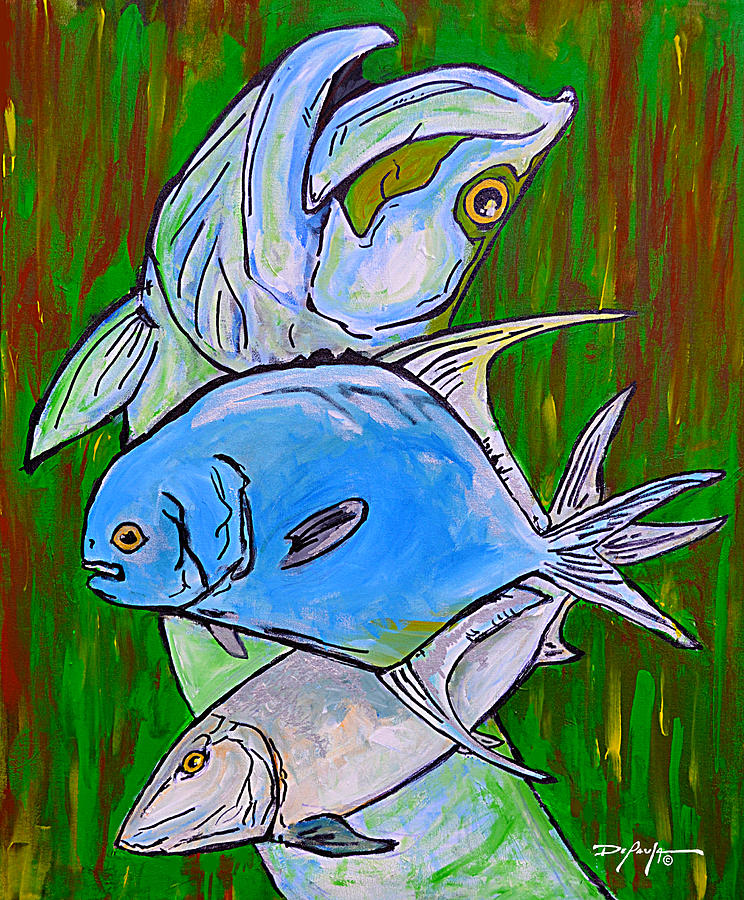 Bonefish Painting - The Backcountry Slam by William Depaula