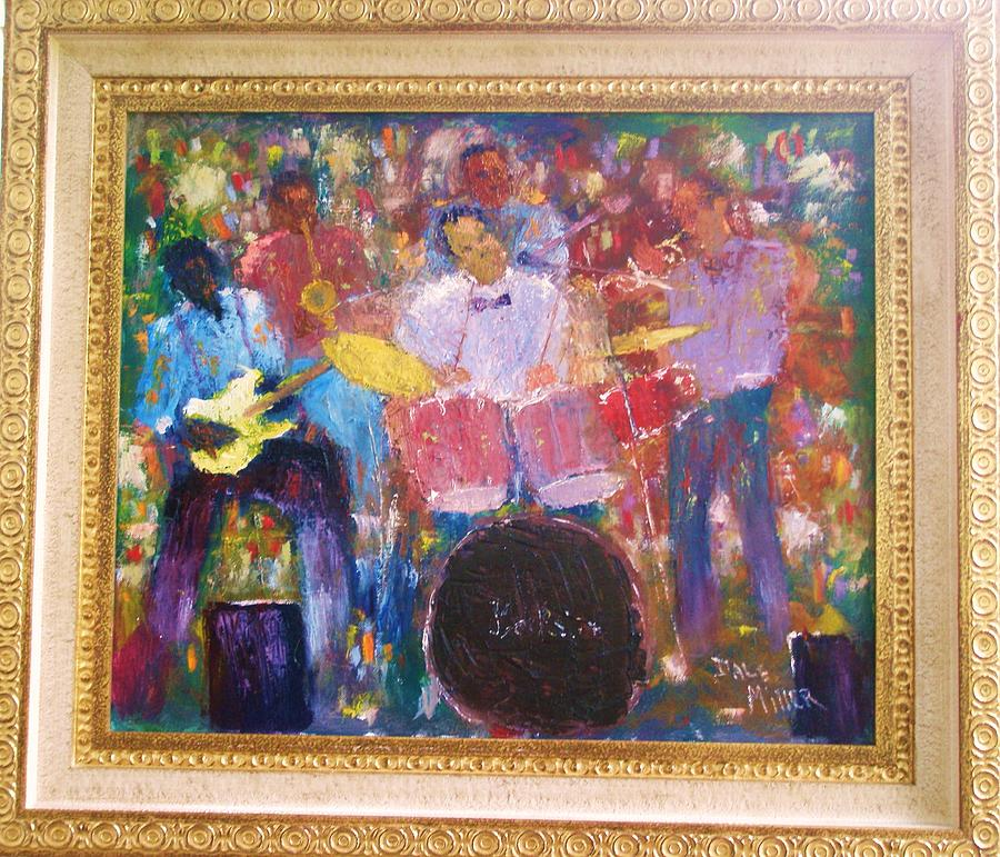 Jazz Painting - The Backsliders by Dale Miller