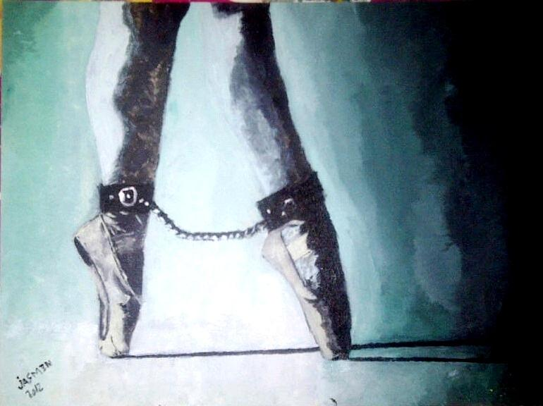 Dancers And Artists Blockage  Painting - The Ballerina  by Jasmin Jumah