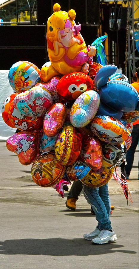 Balloon Photograph - The Balloon Lady by Jocelyn Kahawai