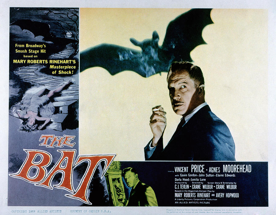 1959 Movies Photograph - The Bat, Vincent Price, 1959 by Everett