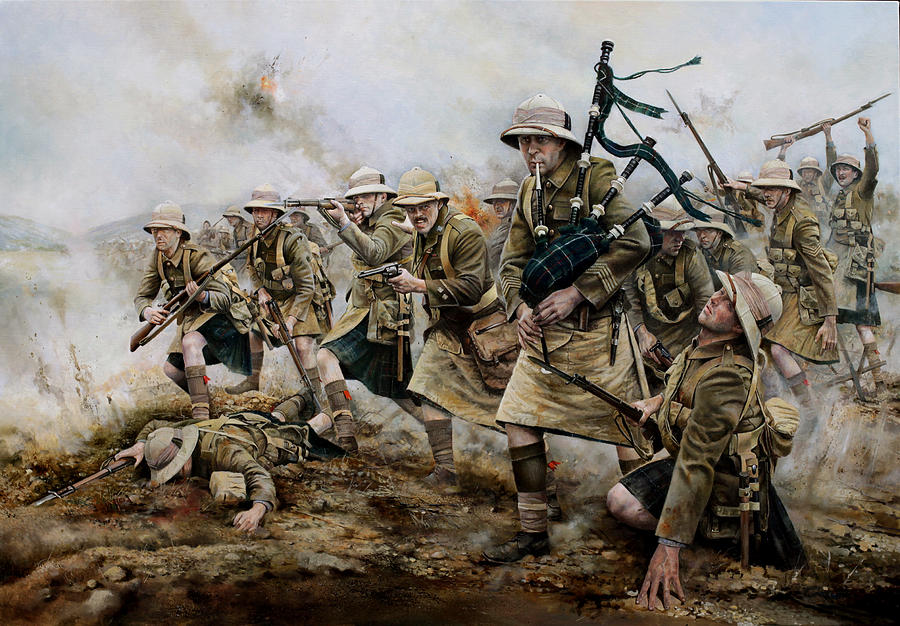The Battle Of Achi Baba 1915 Painting by Chris Collingwood
