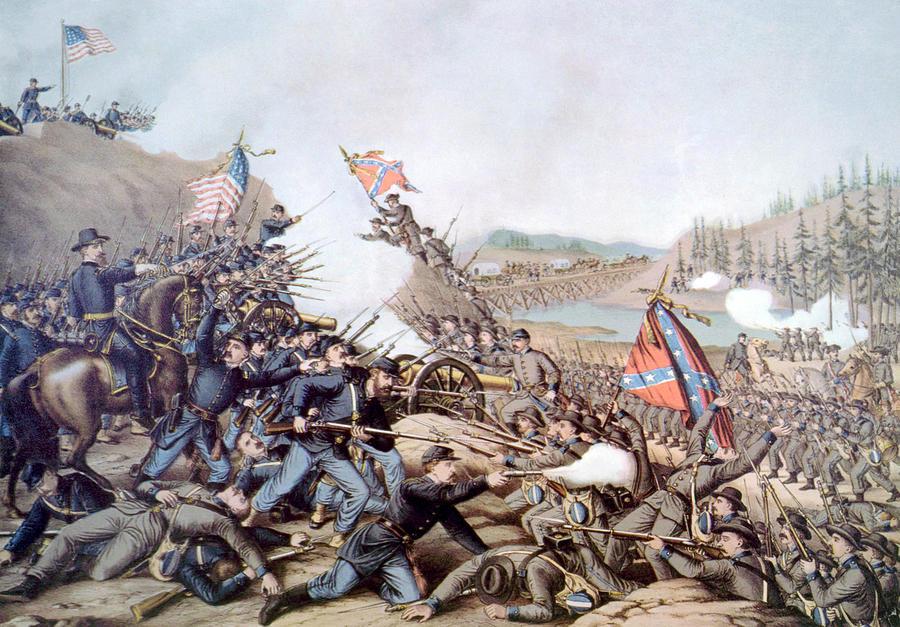 Battle Of Franklin Photograph - The Battle Of Franklin, November 30 by Everett