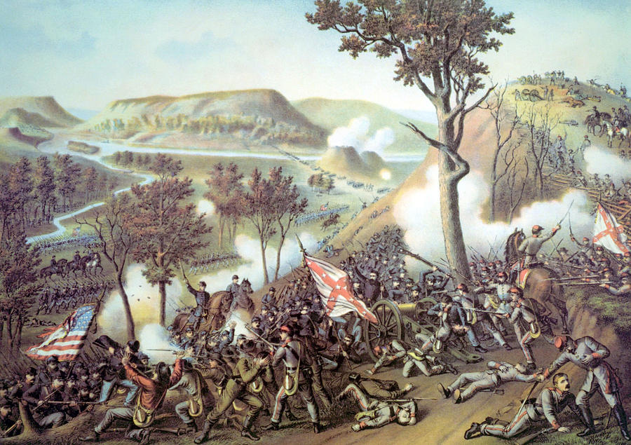 Battle Of Missionary Ridge Photograph - The Battle Of Missionary Ridge by Everett