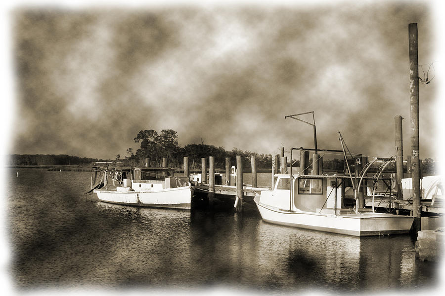 Boats Photograph - The Bayou by Barry Jones