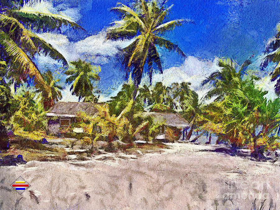 Digital Painting Painting - The Beach 02 by Vidka Art