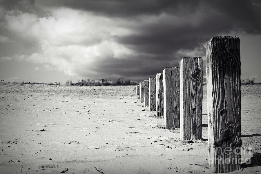 Skegness Photograph - The Beach Monochrome by Stephen Clarridge