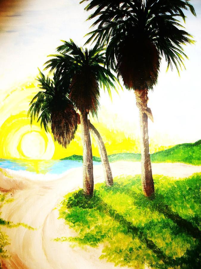 The Beach Painting by Ragdoll Washburn