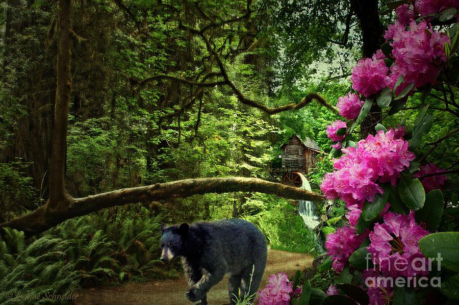 Mountain Digital Art - The Bear Went Over The Mountain by Lianne Schneider