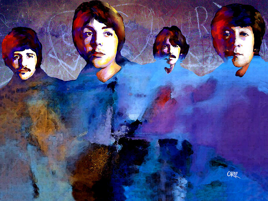 Beatles Digital Art - The Beatles by Carvil