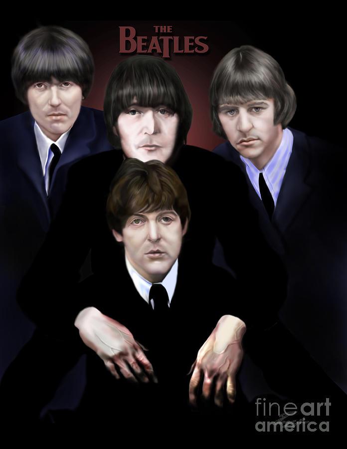 John Lennon Painting - The Beatles by Reggie Duffie