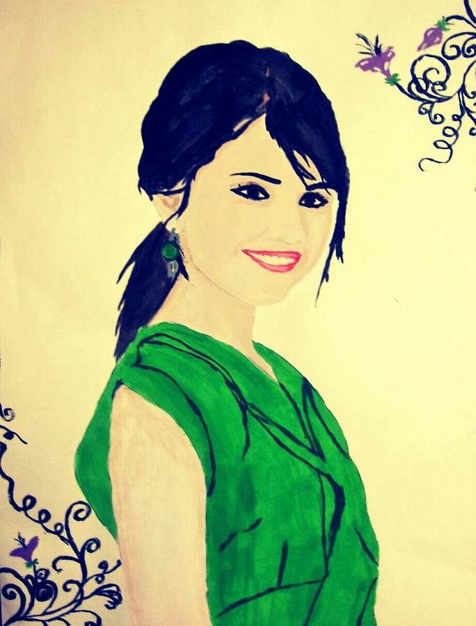 Selena Gomez Painting - The Beautiful by Yasir Mahmood