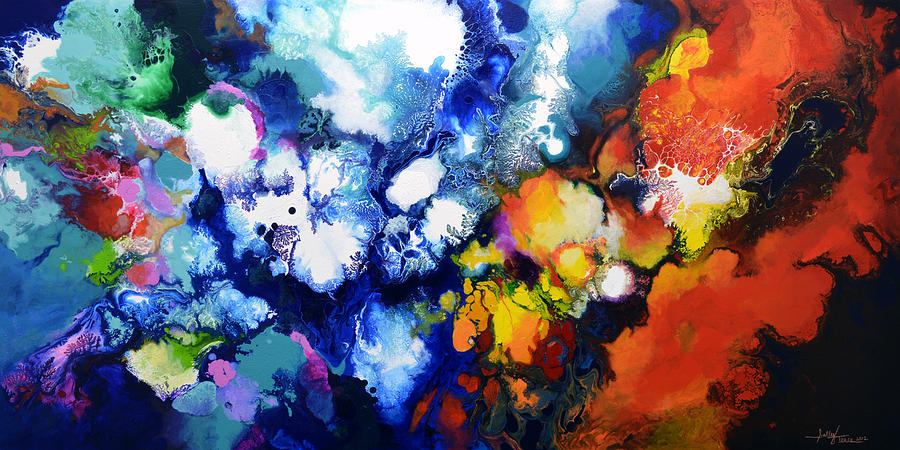 The Beauty In Contrast Painting By Sally Trace