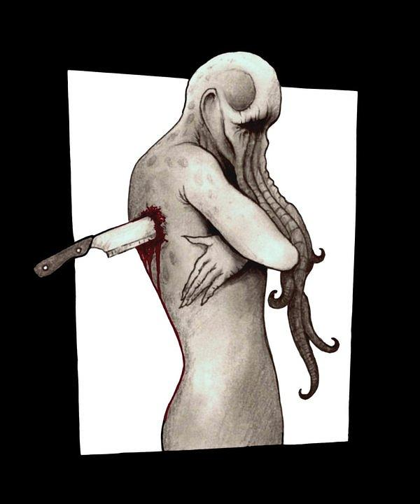 Surrealism Drawing - The Becoming by Lance Shaffer