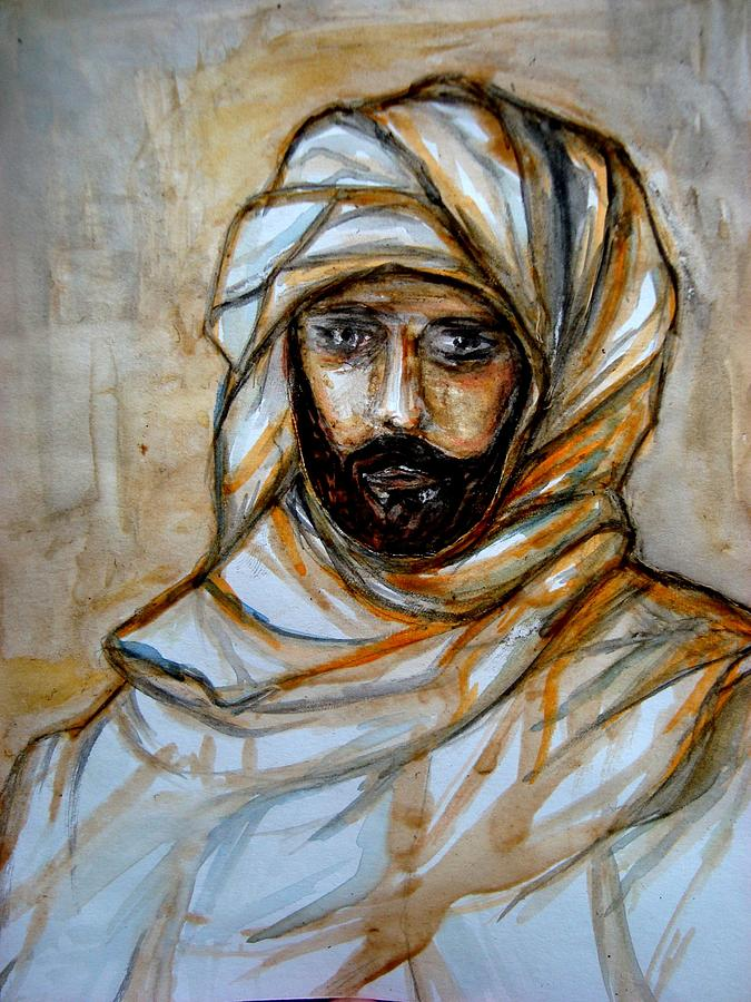 The Bedouin  Painting by Abbas Djamat