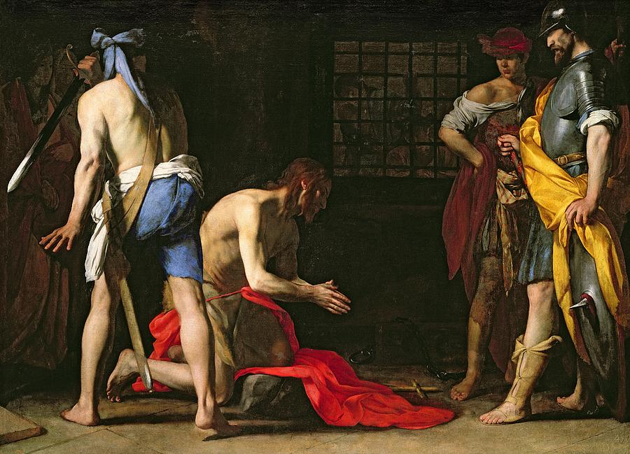 Baptist Painting - The Beheading Of John The Baptist by Massimo Stanzione