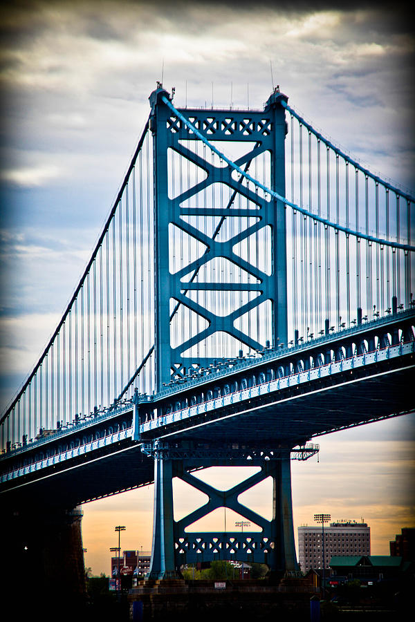 Ben Franklin Bridge Photograph - The Ben Franklin at Dawn by Stacey Granger