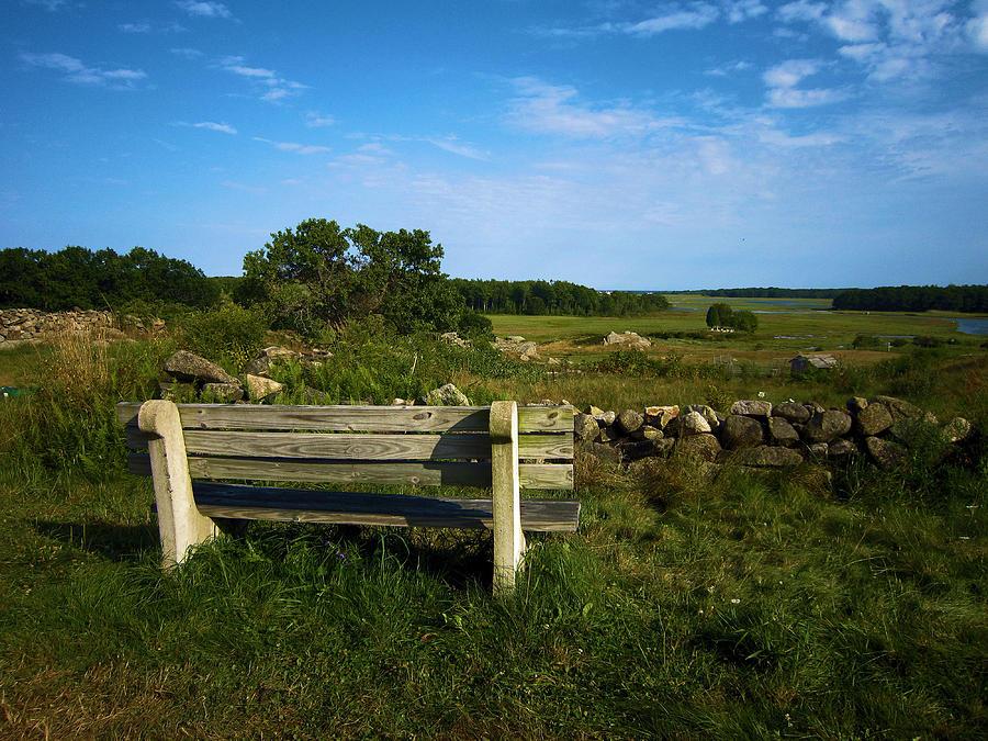 Bench Photograph - The Bench In Biddeford by John J Murphy III