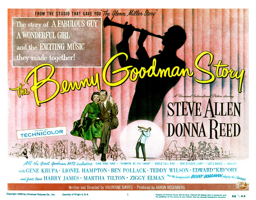 1955 Movies Photograph - The Benny Goodman Story, Donna Reed by Everett