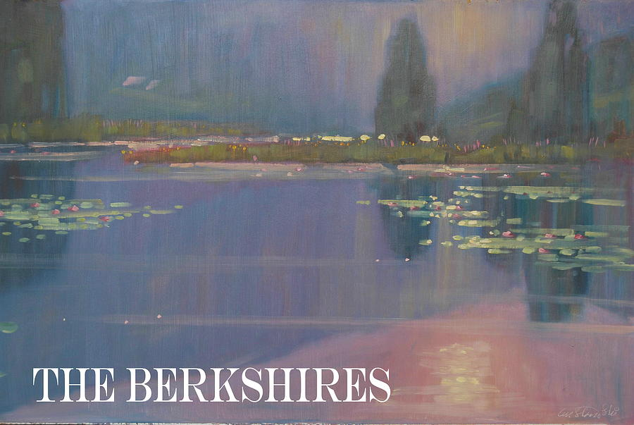 Lilly Pond Painting - the Berkshires by Len Stomski
