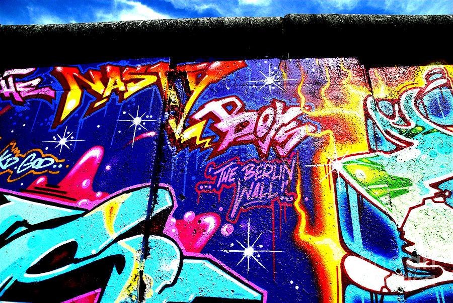 Berlin Photograph - The Berlin Wall 2 by Mark Azavedo