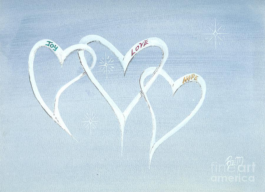 Hearts Painting - The Best In Us All... by Robert Meszaros