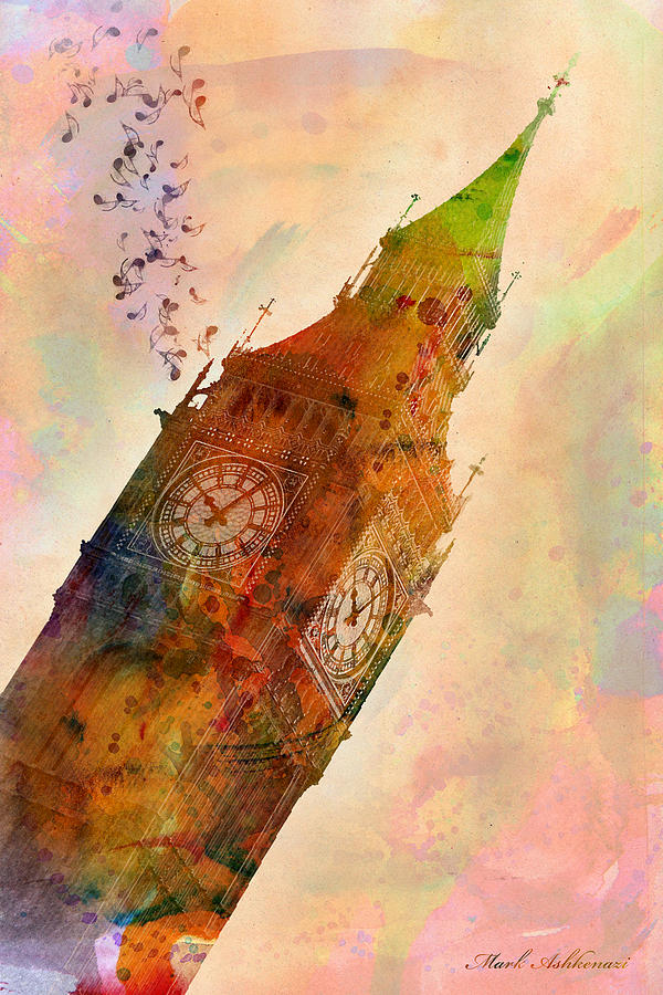 Big Ben Digital Art - The Big Ben by Mark Ashkenazi