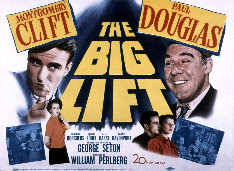 1950 Movies Photograph - The Big Lift, Montgomery Clift, Paul by Everett