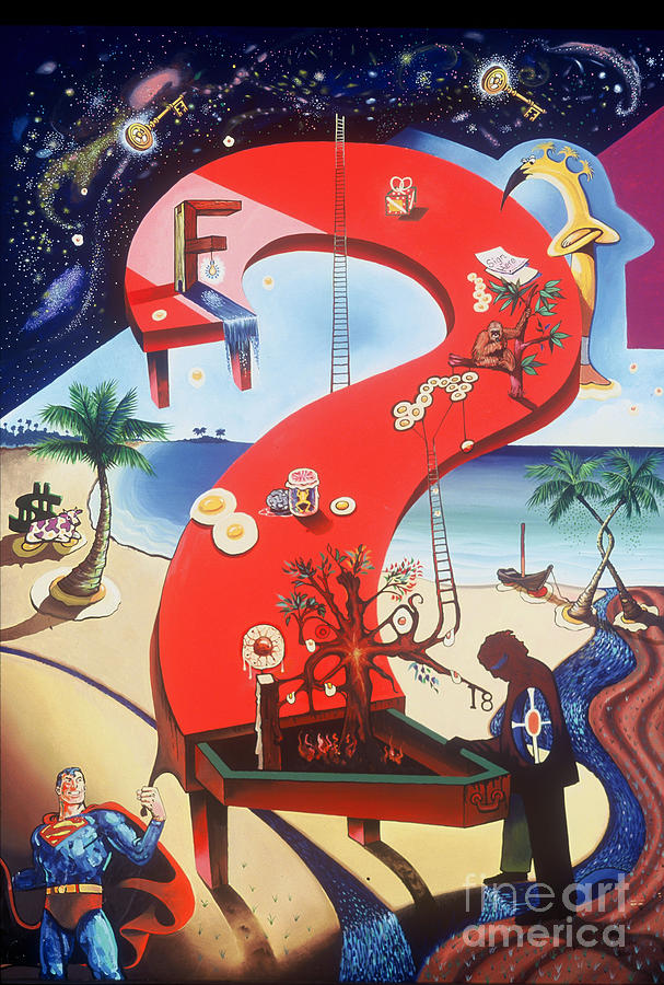 Revelation Painting - The Big Question by Peter Olsen