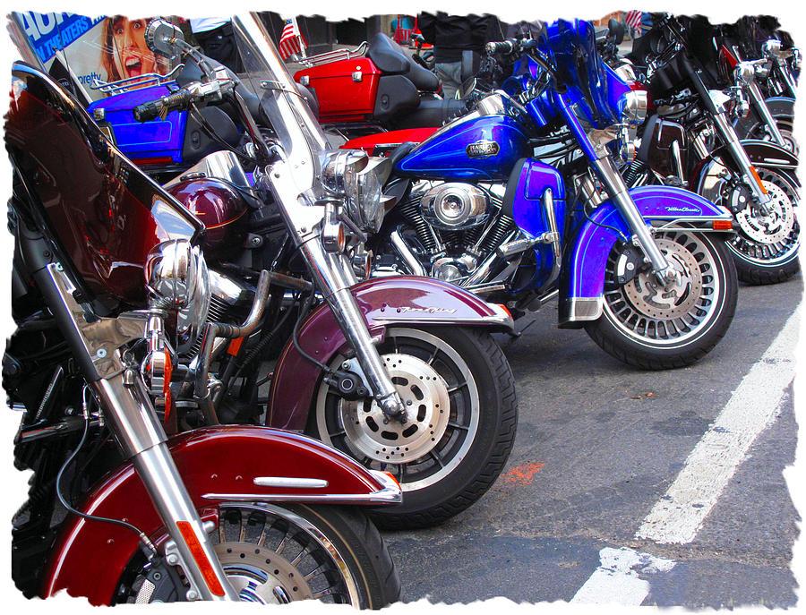 Harley Davison's Photograph - The Bikers by Anthony Chia-bradley