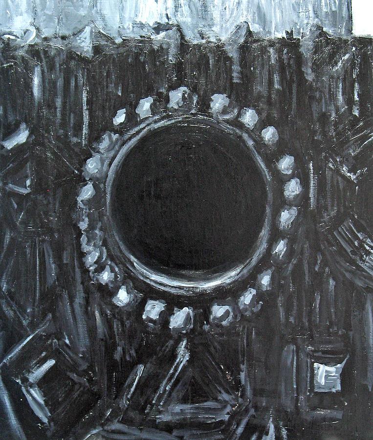 Black And White Painting - The Black Nest by Kazuya Akimoto