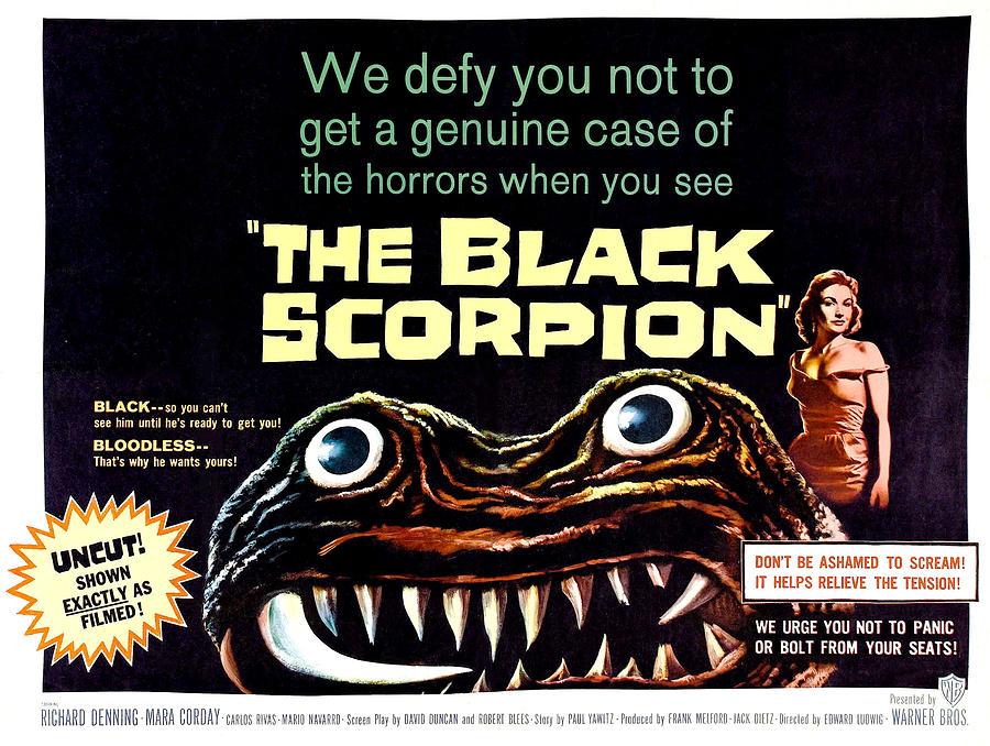 1957 Movies Photograph - The Black Scorpion, On Right Mara by Everett