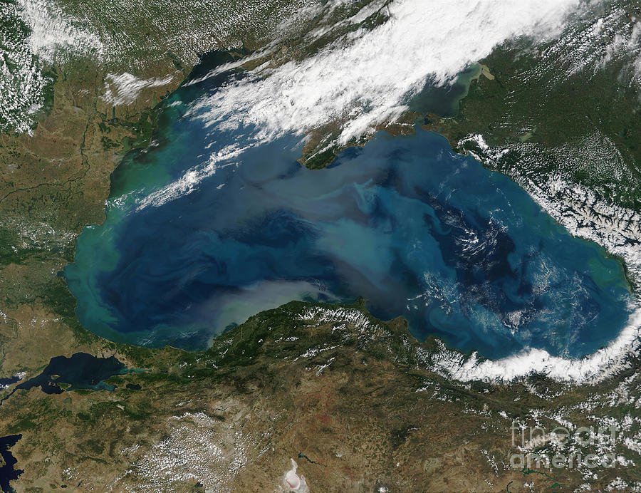 Color Image Photograph - The Black Sea In Eastern Russia by Stocktrek Images