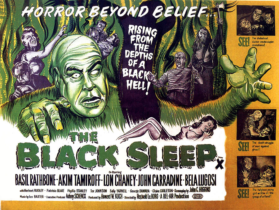 1956 Movies Photograph - The Black Sleep, Close-up On Left Tor by Everett