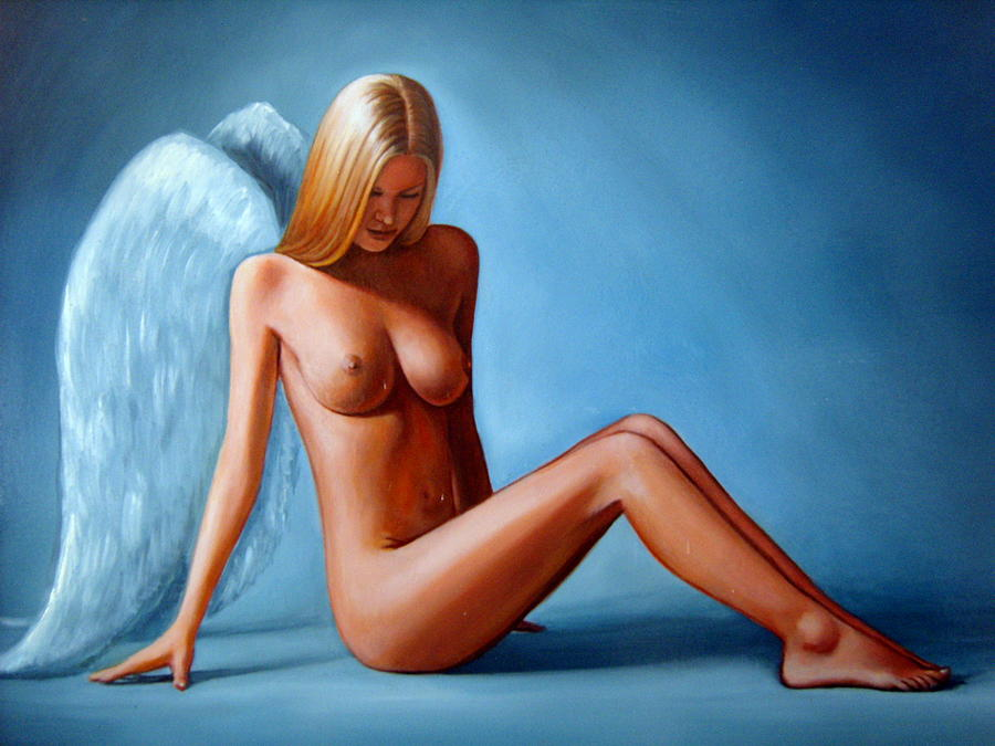Classical and famous oil painting western nude angels printed