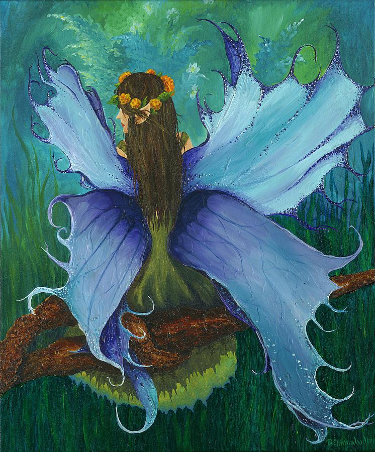 Fairy Painting - The Blue Fairy by Deborah Ellingwood
