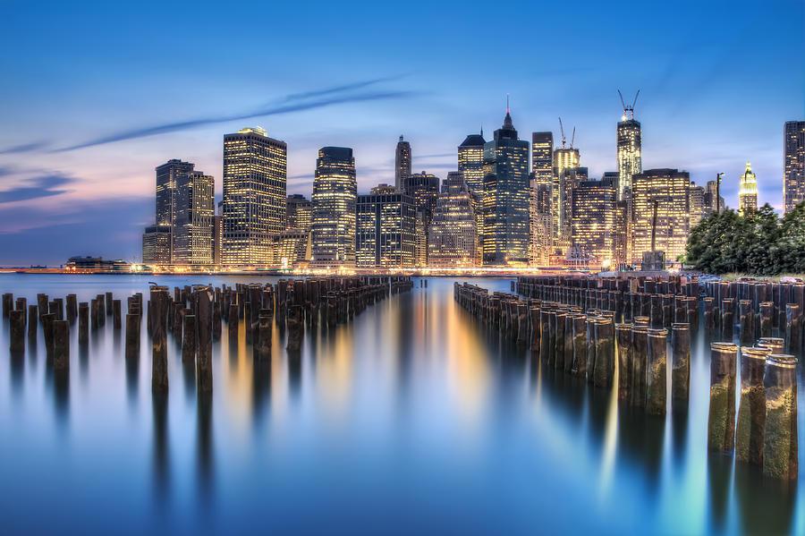 Manhattan Photograph - The Blue Hour by Evelina Kremsdorf