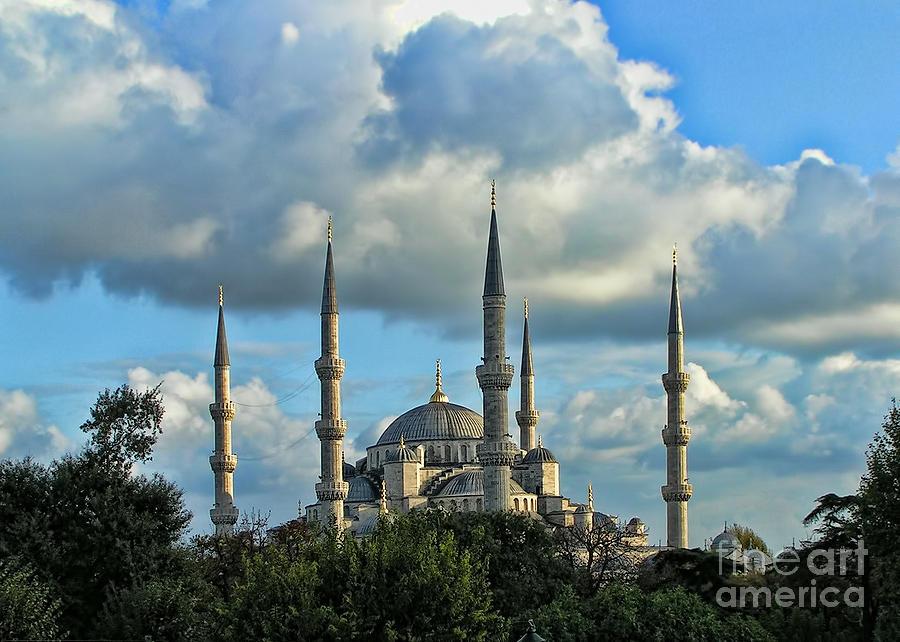 Arabic Photograph - The Blue Mosque Sultanahmet Camii  by Alexandra Jordankova