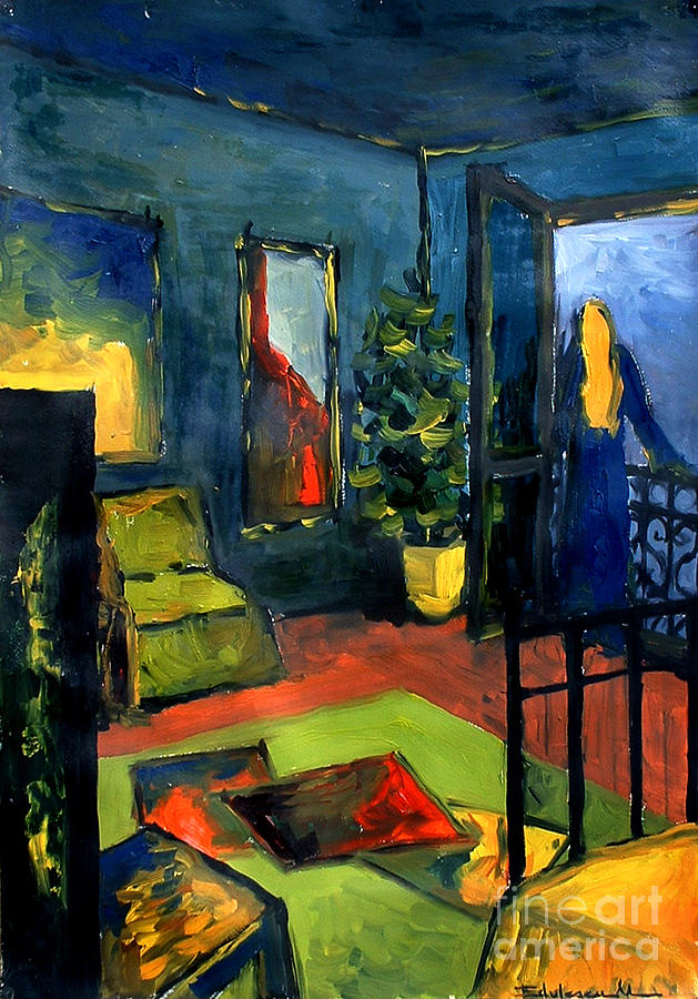 Blue Painting - The Blue Room by Mona Edulesco