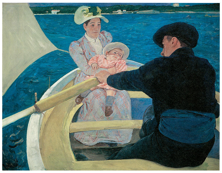 Mary Cassatt Painting - The Boating Party by Mary Cassatt