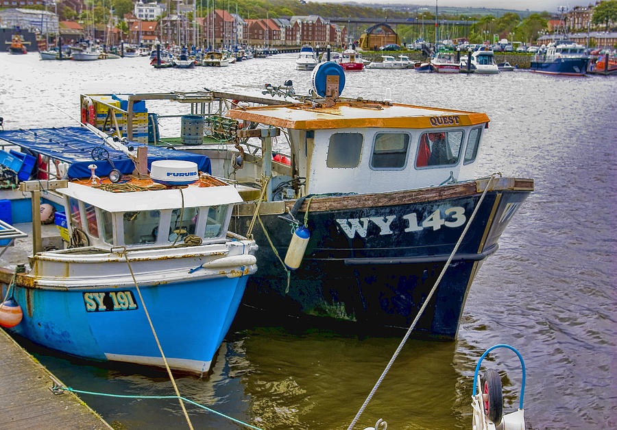 Fishing Photograph - The Boats  by Trevor Kersley