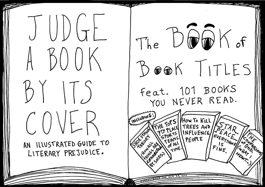 Drawing A Book Cover : The book titles cover cartoon drawing by yasha harari