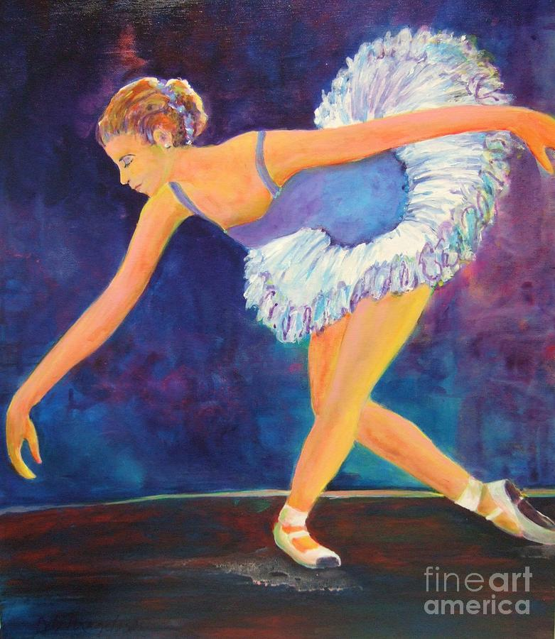 Dance Painting - The Bow by Deb Magelssen