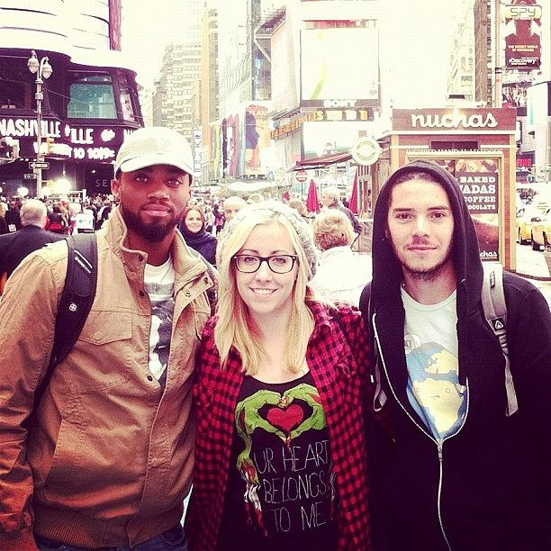 City Photograph - The Boys And I In The Big Apple by April Ferocious
