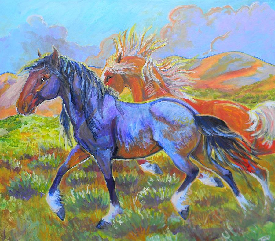 Horse Painting - The Boys by Jenn Cunningham