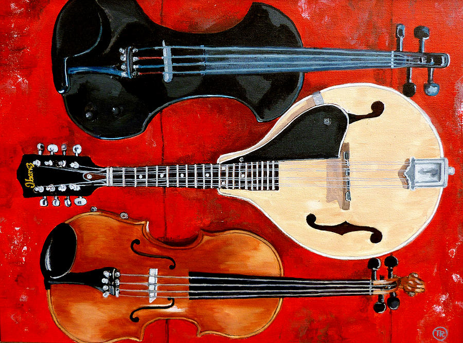 Violin Painting - The Boys by Tom Roderick